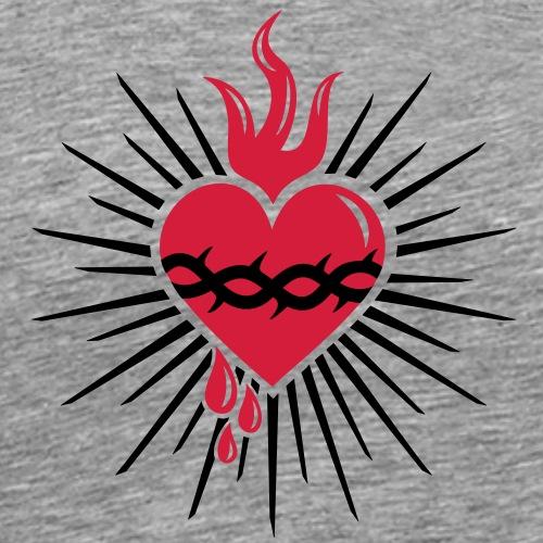 Heiligstes Herz - Jesus Christus - Symbol Liebe - Männer Premium T-Shirt