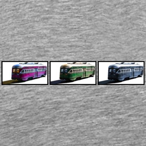 Three Streetcars - SanFran - Männer Premium T-Shirt