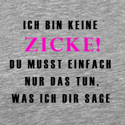 Fun T-Shirt Damen Zicke schwarz - Männer Premium T-Shirt