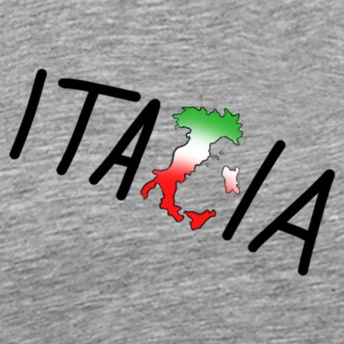 Italia T-Shirt Herren: Schriftzug - Männer Premium T-Shirt