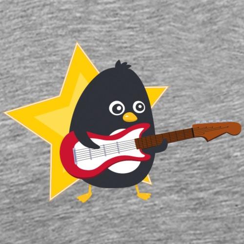 Pingouin Guitariste - T-shirt Premium Homme