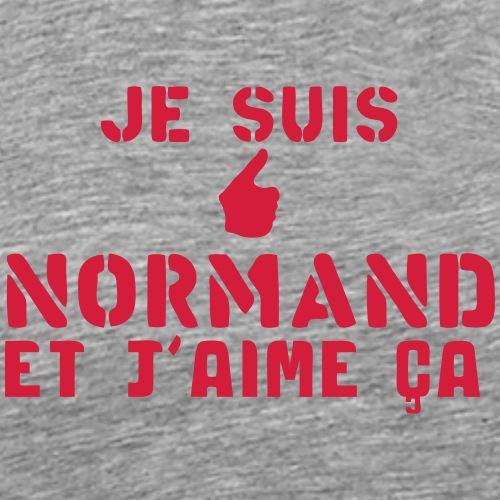 normand je suis aime ca ok pouce - T-shirt Premium Homme