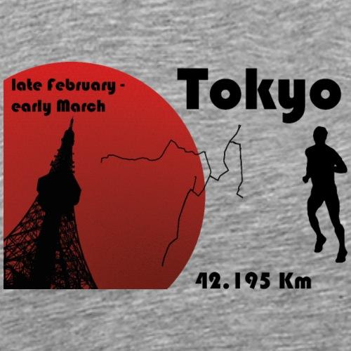 Tokyo marathon - T-shirt Premium Homme