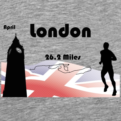 Londres marathon - T-shirt Premium Homme