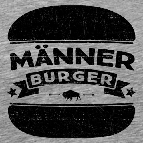 Männer Burger (Black Edition) - Männer Premium T-Shirt