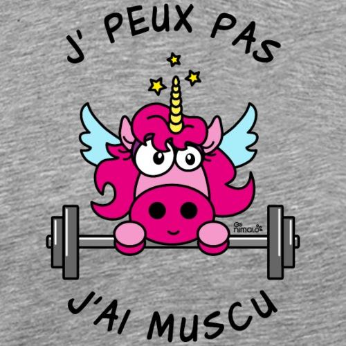 Licorne Rose, Je peux pas, J'ai Muscu - T-shirt Premium Homme
