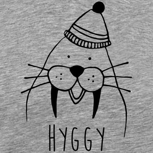 Freundliches Walross mit Mütze Hyggy hyggecontest - Männer Premium T-Shirt