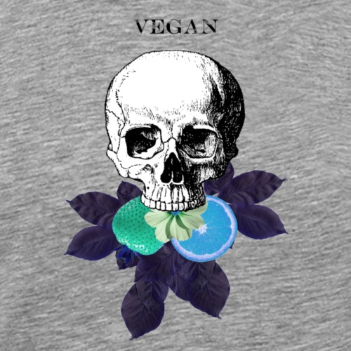 Vegan Eats - Blue - Men's Premium T-Shirt