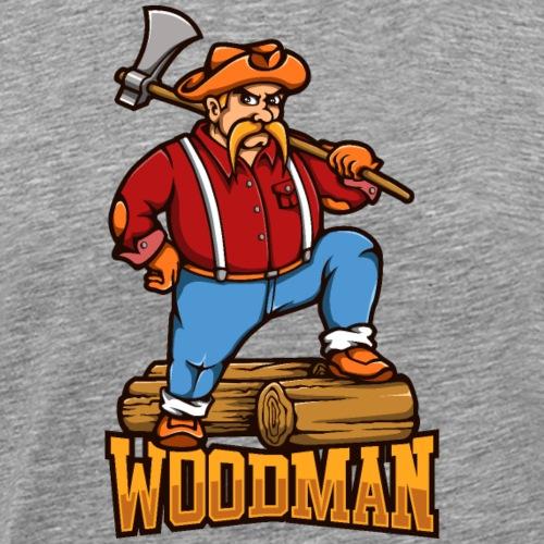 Der Holzfäller - Männer Premium T-Shirt
