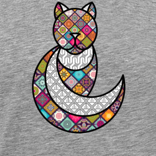 CHAT PSYCHEDELIQUE / THE PSYCHEDELIC CAT - T-shirt Premium Homme