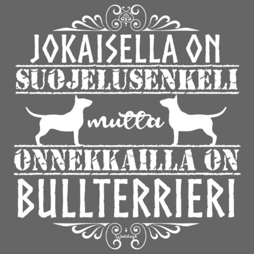 Bullterrieri Enkeli Valkea - Miesten premium t-paita