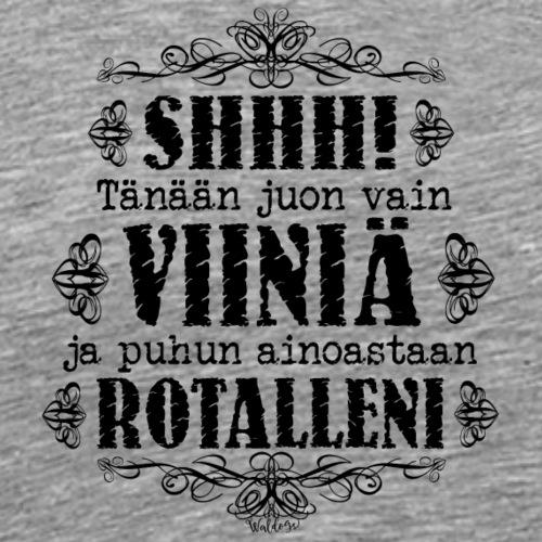Viini Rotta III - Miesten premium t-paita