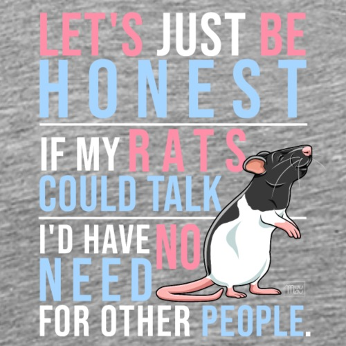 If Rats Could Talk IX - Miesten premium t-paita