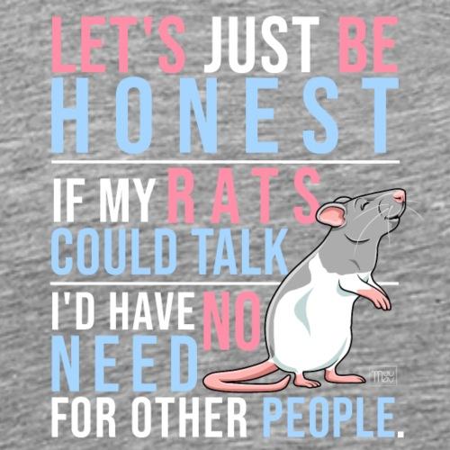 If Rats Could Talk VIII - Miesten premium t-paita
