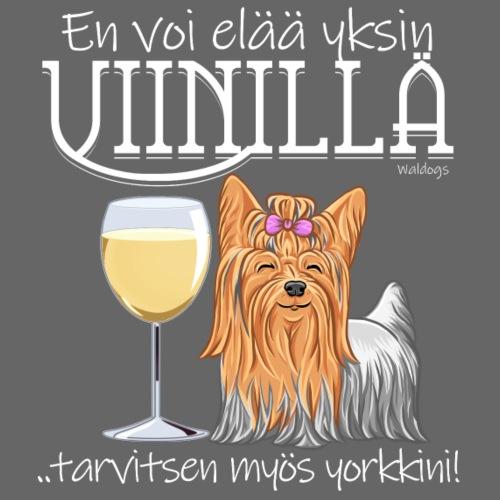 Yksin Viinillä Yorkki - Miesten premium t-paita