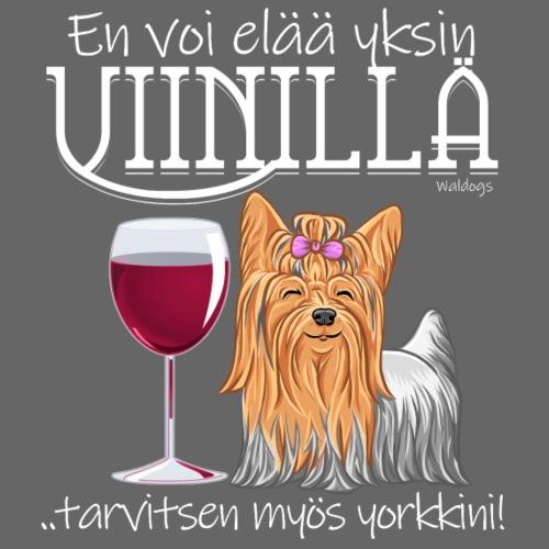 Yksin Viinillä Yorkki II - Miesten premium t-paita