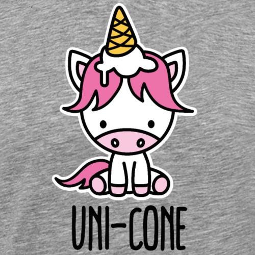 Grappige Uni-kegel eenhoorn ijs schattige ijsje - Mannen Premium T-shirt