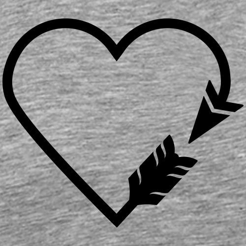 Arrow Heart (Bogenschießen by BOWTIQUE) - Männer Premium T-Shirt