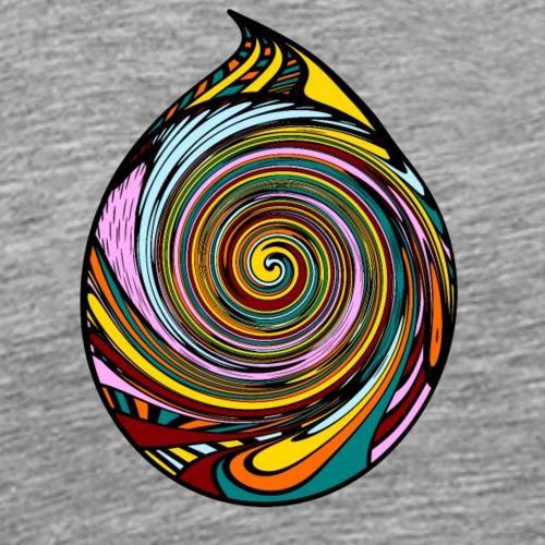 Bunter Spiral-Tropfen - Männer Premium T-Shirt