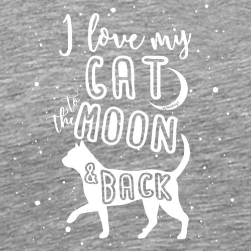 Cat Moon - Miesten premium t-paita