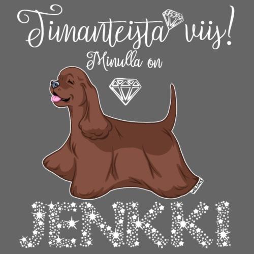 Jenkki Timantti 4 - Miesten premium t-paita