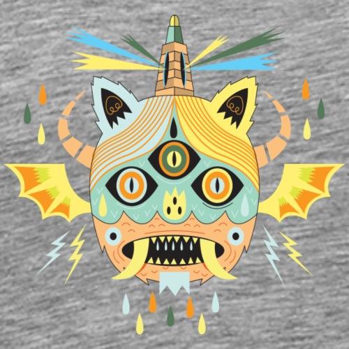 Halloween pipistrello mostro illustrazione - Maglietta Premium da uomo