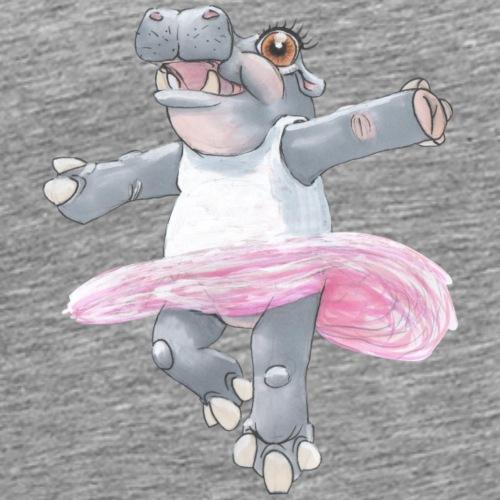Ballet Hippo - Herre premium T-shirt