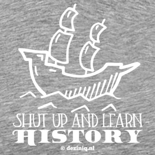 Learn History - wit - Mannen Premium T-shirt