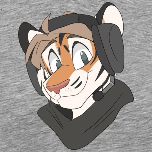 The tigers den hood - Premium T-skjorte for menn