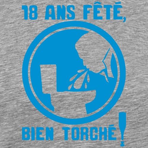 18 ans fete torche obligatoire panneau - T-shirt Premium Homme