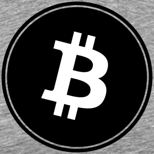 Bitcoin in Black color. - Männer Premium T-Shirt