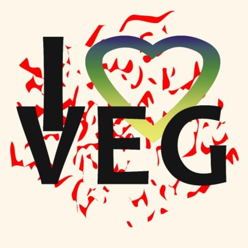 i love veg - Maglietta Premium da uomo