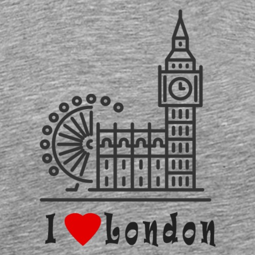 London - Miesten premium t-paita