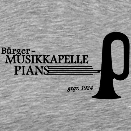 LOGO MK PIANS schwarz dick - Männer Premium T-Shirt