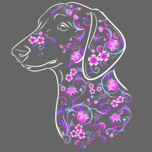 Dachshund Flowers II - Miesten premium t-paita