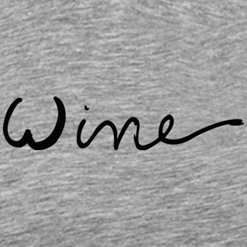 WINE art logo ZWART - Mannen Premium T-shirt