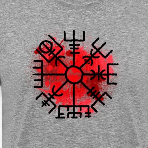 Vegvisir in red By TheRawburt - Premium-T-shirt herr
