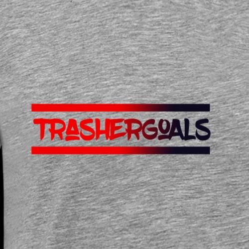 trashergoals lgo red-black - Mannen Premium T-shirt