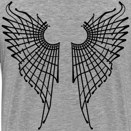 Alas de mariposa - Negro - Camiseta premium hombre