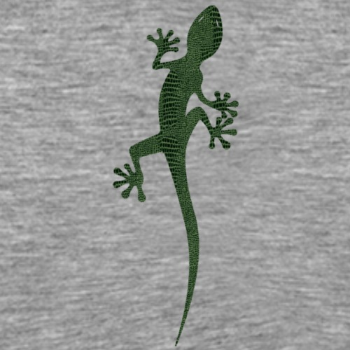 Lézard Gecko noir et vert