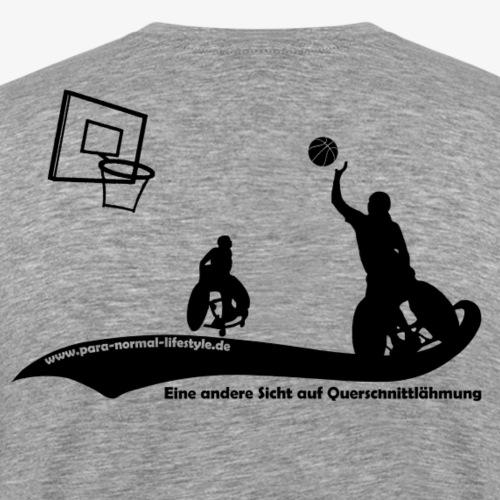PNL Rollstuhlbasketball black - Männer Premium T-Shirt