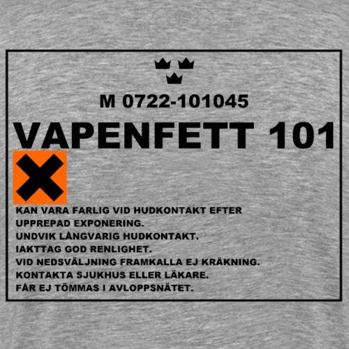 VAPENFETT 101 - Premium-T-shirt herr