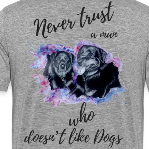 Never Trust - Männer Premium T-Shirt