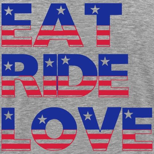 Eat Ride Love - Männer Premium T-Shirt