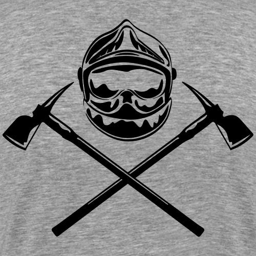 casque_pompier_deux haches - T-shirt Premium Homme