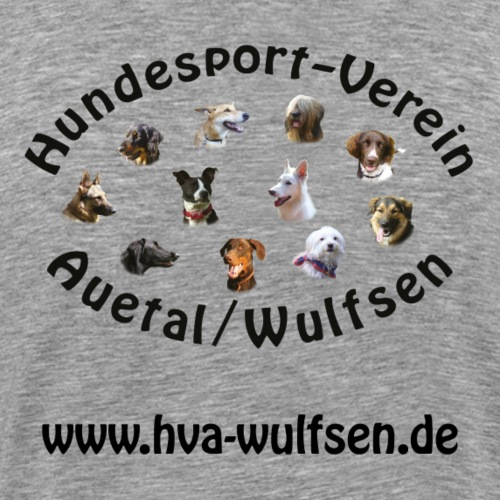 hva logo homepage SW - Männer Premium T-Shirt