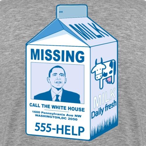 Missing: Barack Obama - T-shirt Premium Homme