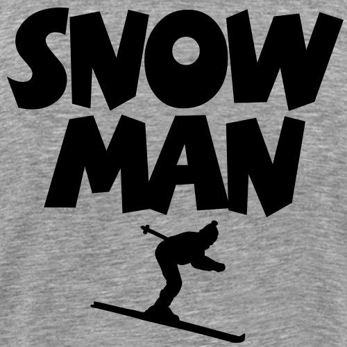 Snowman Ski Skifahrer - Männer Premium T-Shirt