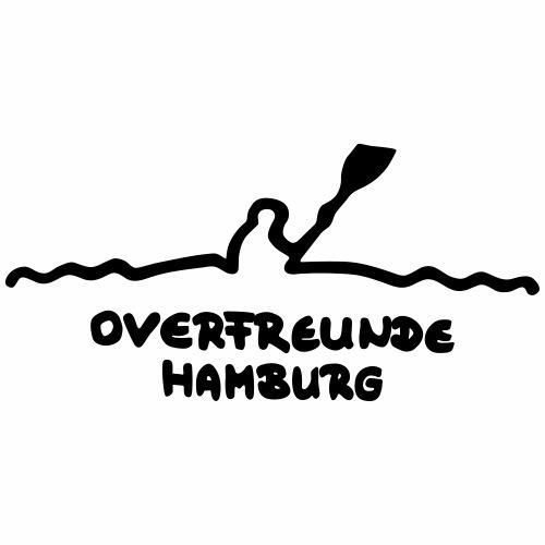 Logo OverfreundeHamburg Schwarz   Groß - Männer Premium T-Shirt