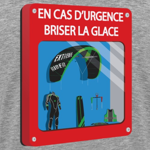 En cas d'urgence - kitesurf - T-shirt Premium Homme